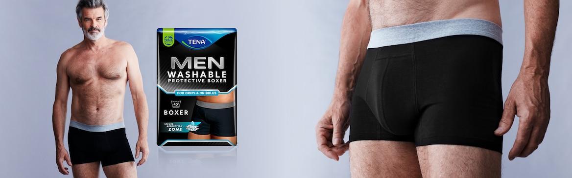 Introducing TENA Men Washable Protective Boxers