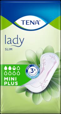 TENA Lady Slim Mini Plus  Dyskretne i niezawodne podpaski na nietrzymanie moczu dla kobiet