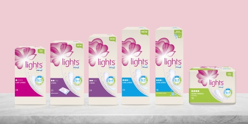 lights by TENA packshot of range
