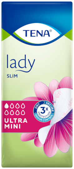 TENA Lady Slim Ultra Mini | Incontinence liner for small urine leaks