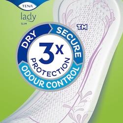 Absorbantele TENA Lady cu protecție triplă împotriva scurgerilor de urină, mirosurilor și umezelii