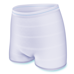 The soft and comfortable TENA Fix is a washable and reusable fixation pant