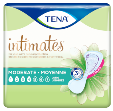 TENA Intimates Moderate | Thin long incontinence pad for women