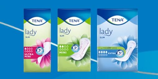 Vyberte si z naší nabídky výrobků TENA Lady podle vašich potřeb.