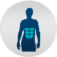 Illustration of person and their abdominal muscles