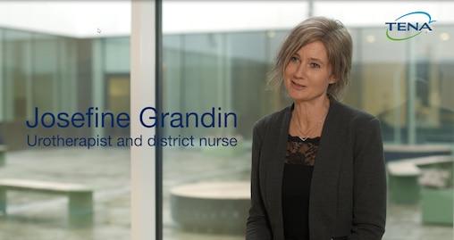 TENA Josefine Grandin, uroterapeutti ja kotisairaanhoitaja