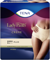 TENA Lady Pants Plus High Waist Crème - women´s incontinence underwear in chic crème colour