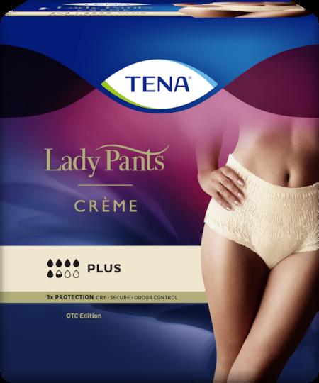 TENA Lady Pants Plus High Waist Crème - women´s incontinence underwear in chic crème colour