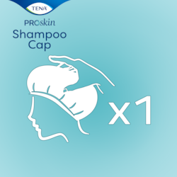 TENA ProSkin Shampoo Cap – in a convenient single pack