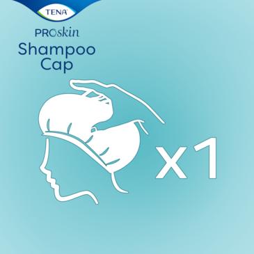 TENA ProSkin Shampoo Cap in der praktischen Einzelverpackung
