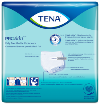 Fully breathable incontinence underwear with leakage security