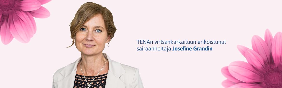 TENAn virtsankarkailuun erikoistunut sairaanhoitaja Josefine Grandin