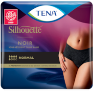 TENA Silhouette Normal Taille basse Noir