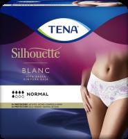 TENA Silhouette Normal Cintura Baja Blanc: ropa interior femenina para la incontinencia con un elegante diseño en blanco
