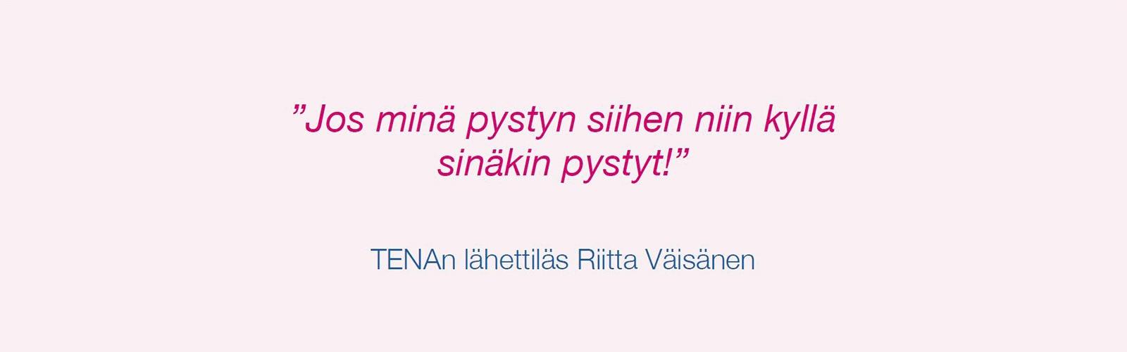 TENAn lähettiläs Riitta Väisänen