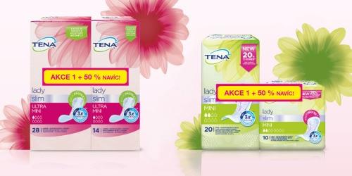 Vložky TENA Lady Slim – balení 1 + 50% navíc