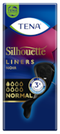 TENA Silhouette Noir Normal | Black incontinence liners