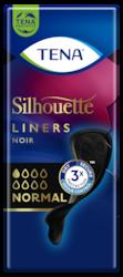 TENA Silhouette Noir Normal | Protegeslips para la incontinencia en color negro