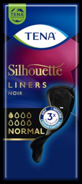 TENA Silhouette Noir Normal | Proteggi-slip per incontinenza neri