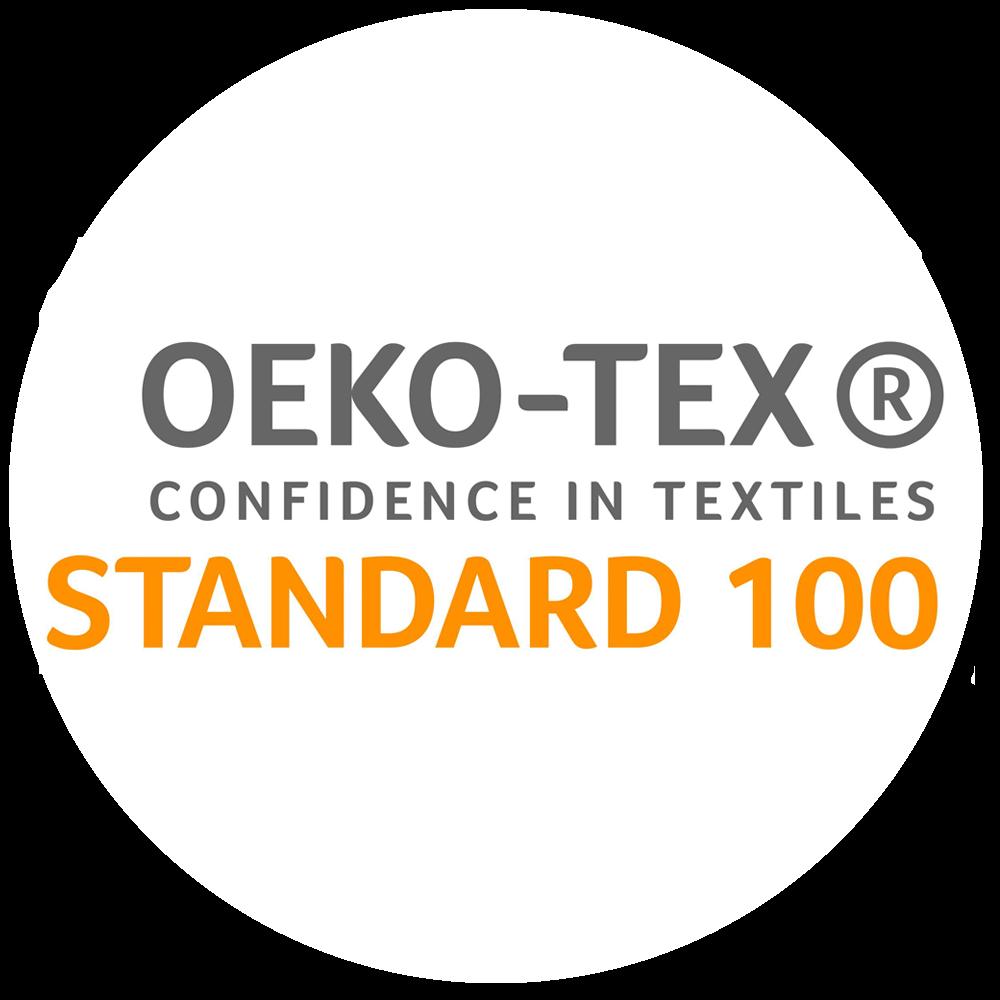 Certifiée OEKO-TEX®. Testée substances nocives