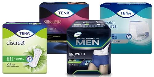 Afbeelding verpakkingen TENA producten