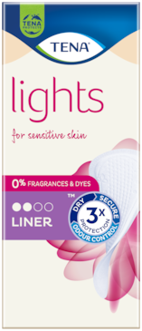 TENA Lights Incontinence Liner | For Sensitive skin