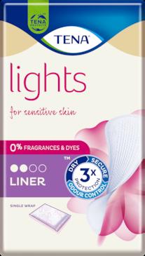 TENA Lights Incontinence Liner Single Wrap | For Sensitive skin