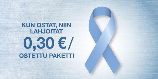 Lahjoitamme jokaisesta marraskuussa ostetusta TENA Men -paketista 0,30 € valtakunnalliselle potilasjärjestölle Propolle.