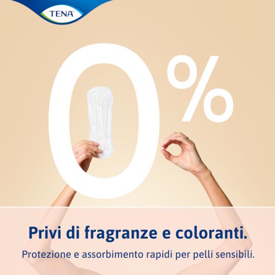 I proteggi-slip per incontinenza TENA lights sono privi di profumo e coloranti
