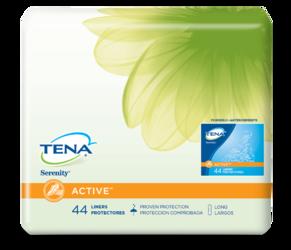 TENA® Serenity® ACTIVE™ Incontinence Liners Long