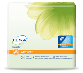 TENA® ACTIVE™ Ultra Thin Incontinence Pads Long