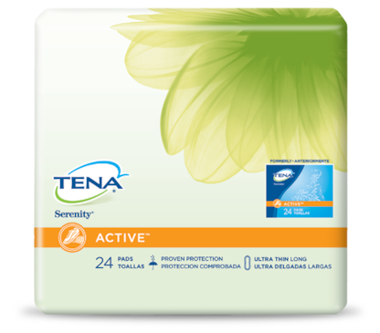 TENA® ACTIVE™ Ultra Thin Incontinence Pads Long