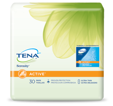 TENA® ACTIVE™ Ultra Thin Incontinence Pads Regular