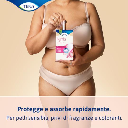 Protezione ad assorbimento rapido per incontinenza leggera