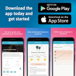 In the app, you can train and tone your pelvic floor with fun Kegel exercises. Download for free in Google Play or the App Store.