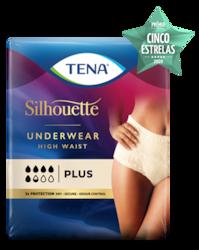 TENA Silhouette Plus High Waist Crème - roupa interior para a incontinência feminina, num elegante tom creme