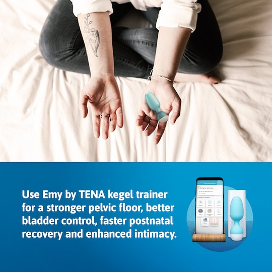 Emy by TENA Kegel Trainer for better bladder control, faster postpartum recovery and enhanced intimacy