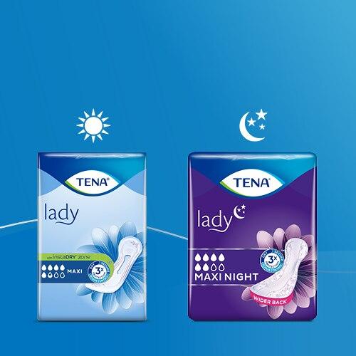 Balenie vložiek TENA Lady na deň a noc