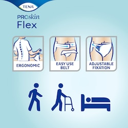 TENA Flex ProSkin - Belted incontinence brief with adjustable fixation and easy use design