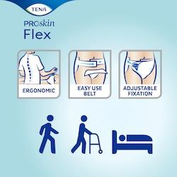 TENA Flex ProSkin – Change complet absorbant avec ceinture avec fixation ajustable et design offrant une grande facilité d'utilisation