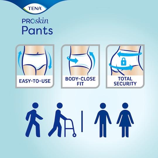 Hlačke TENA Pants ProSkin –Zanesljive in preproste za uporabo