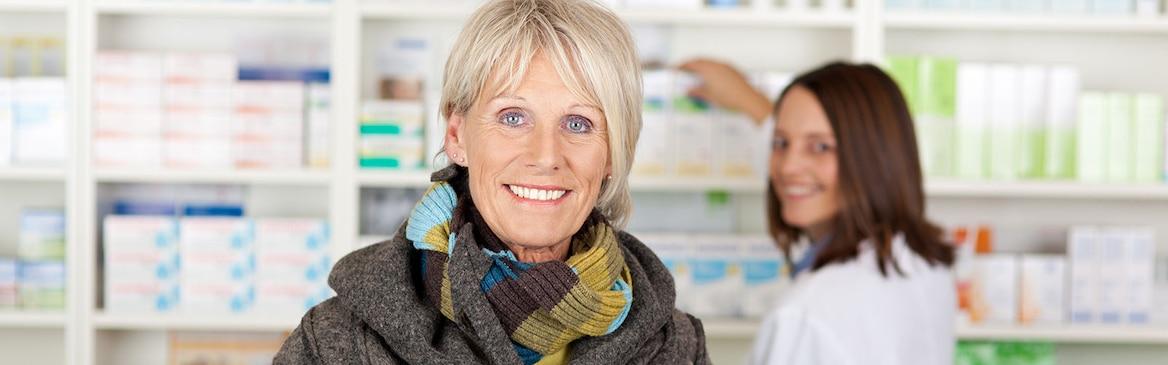 Lady in pharmacy