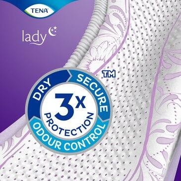 TENA Lady Slim Normal Night | Absorbant pentru controlul incontinenței pe timpul nopții