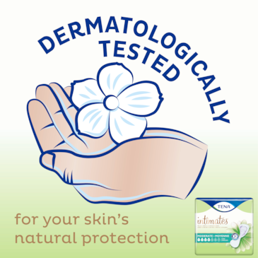 TENA Intimates Moderate Thin Pads are dermatologically tested