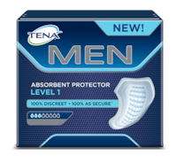 TENA MEN Absorbent Protector Level 1 - Secure absorbent male pads for light urine leakage and incontinence