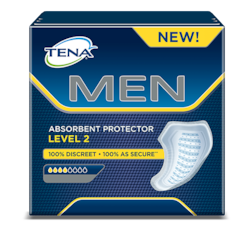 Absorpční pomůcka pro muže TENA MEN Level 2 – pánská ochrana při středním nebo mírném úniku moči a inkontinenci