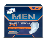 TENA Men Absorbent Protector Level 3 - Extra protection against larger male urine leaks and incontinence for day and night
