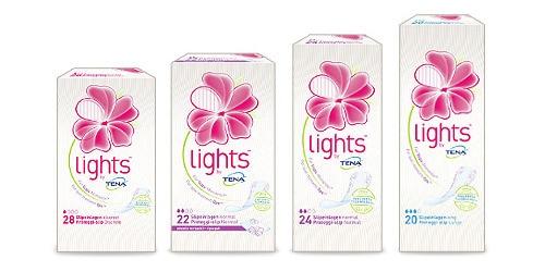 La gamma di prodotti lights by TENA.