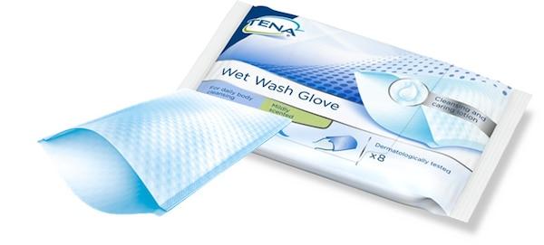 TENA Wet Wash Glove Kostea pesukinnas