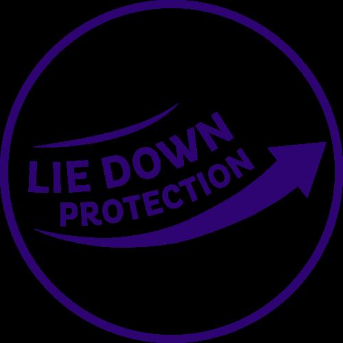 Vďaka ochrane v ľahu zostane pokožka dlhšie suchá pri použití naťahovacích nohavičiek TENA ProSkin Night Pants.